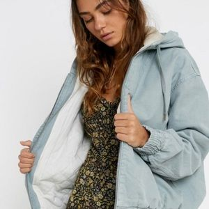 Urban Outfitters BDG Sherpa Hooded Skate Jacket